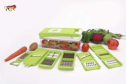 Amar Enterprise Multipurpose & Unbreakable Vegetable and Fruit Chopper Cutter Grater Slicer(13 Blades Included)