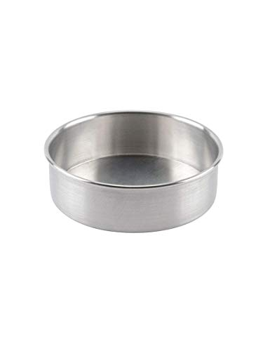 """MAM Creations Aluminium Baking Round Cake Pan/Mould for Microwave Oven - 6"""" Diameter x 2.25"""" Height for 0.5kg,(Round 6"""")"""