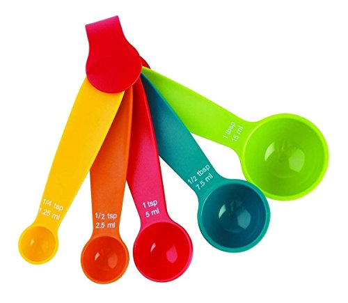 Shopo Multi Color Measurement Measuring Spoon Cups 1 Set of 5 Pieces - Kitchen Tool/Baking Tool