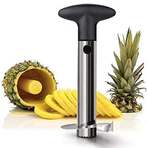 Twinthers Stainless Steel Pineapple Cutter and Fruit Peeler Slicer, Medium, Silver