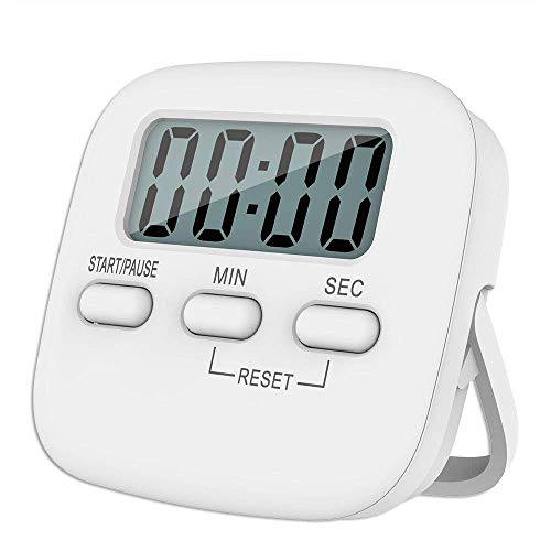we3 Digital Kitchen Timer & Stopwatch Large Digits Loud Alarm Magnetic Stand(Round)